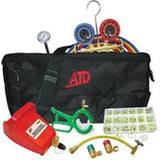 ATD Tools AC Bag Kit R134 U Charge Kit 4.2 CFM Vac Pump Can Tap O Rings ATD-90