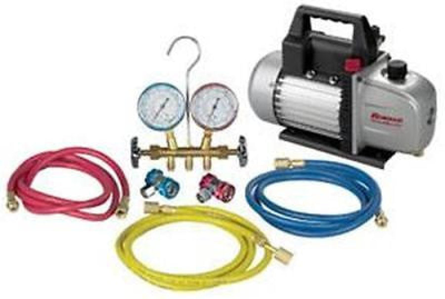 RobinAir R134A Manifold and Vacuum Pump Combo Kit 48134AVACKIT