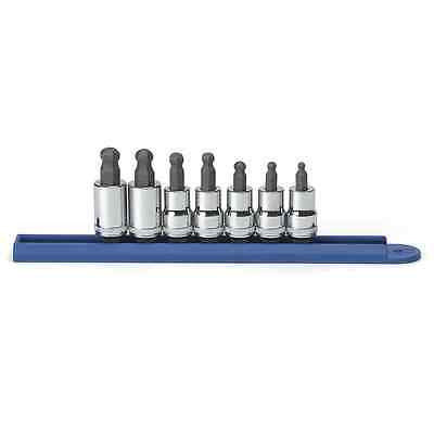"GearWrench 7 pc. Ball HexBit Socket Set Metric, 3/8"" Dr 80587"