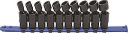 "GearWrench 10 Pc 3/8"" Dr 6 Pt Metric Pinless Universal Impact Socket Set 84921"