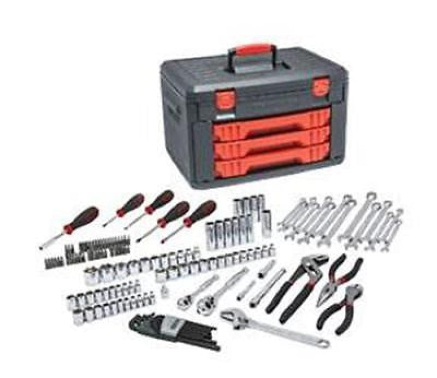 "GearWrench 143 Pc General Purpose Tool Set Storage Box 1/4"" & 3/8"" Sockets 80938"