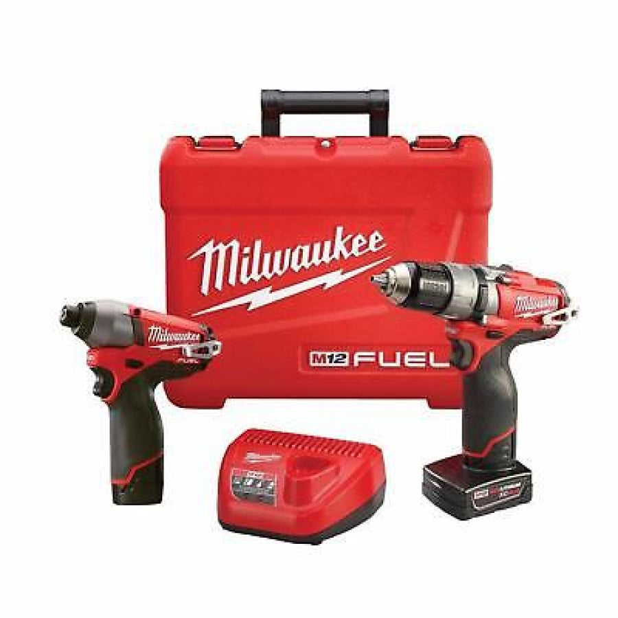 "Milwaukee 2597-22 M12 FUEL 1/2"" Hammer Drill & Impact Driver Combo Kit"