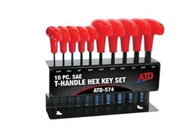 ATD T-Handle Hex Key Set, SAE, 10pc  574