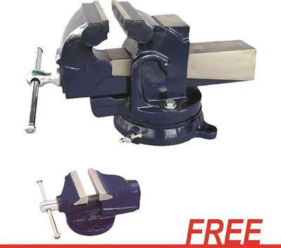 "ATD 6"" Professional Shop Vise Opens to 7"" 9306 FREE Mini Vise Opens to 2"""