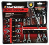 GearWrench KDT9421 10 pc. Metric Ratcheting Wrench Set 10MM 12-15MM 9421