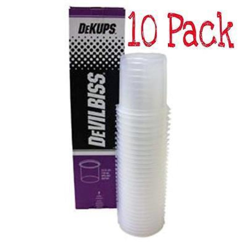 Devilbiss DeKups Gravity Feed 24 oz/710 ml Disposable Cups and Lids 10 Pk DPC601