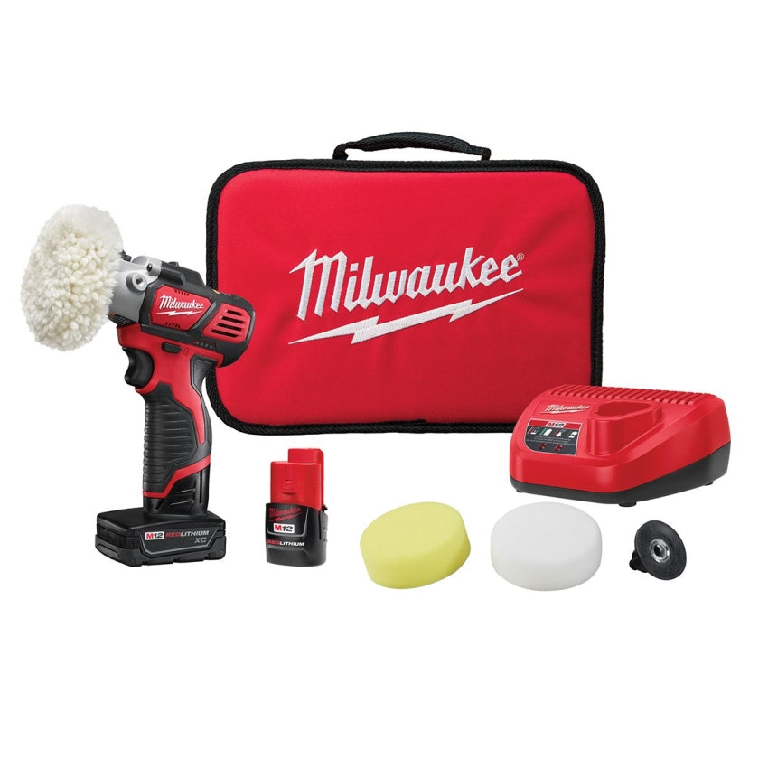 Milwaukee 2438-22X M12 Variable Speed Polisher/Sander Kit w/3.0 &1.5 Batteries