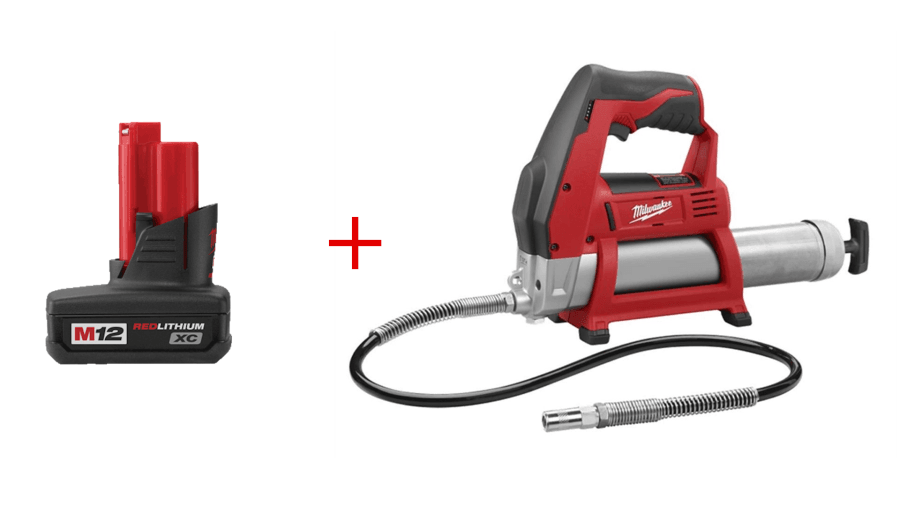 Milwaukee 2446-20 M12 Grease Gun (Bare Tool) with XC3.0 Battery