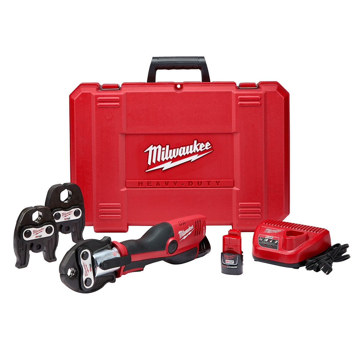 Milwaukee M12 Force Logic Cordless Press Tool Kit 2473-22 With 3 Pc Jaw Set