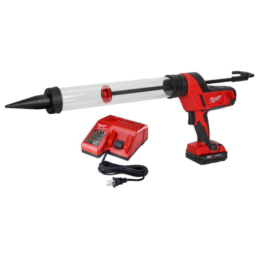 Milwaukee 2643-21CT 20oz Caulk and Adhesive Dispenser Kit w/(1) 1.5ah Battery (Clearance)