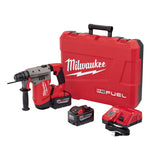 "Milwaukee 2715-22HD M18 FUEL 1-1/8"" SDS+ Rotary Hammer Kit w/ 9Ah Batteries"