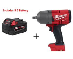 "Milwaukee 2767-20 M18 FUEL High Torque ½"" Impact Wrench & 5.0 Battery"