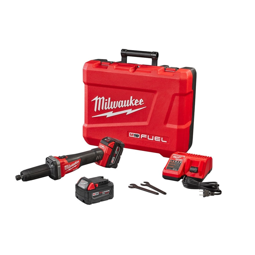 "Milwaukee 2784-22 M18 FUEL 1/4"" Die Grinder Kit w/(2) 5Ah Batteries"