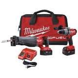 Milwaukee M18 FUEL Hammer Drill SAWZALL Kit w/(2) 4ah Batteries, Charger & Bag 2794-22