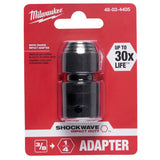 Milwaukee 48-03-4405 3/8 in. Square x 1/4 in. Hex Shockwave Impact Adapter