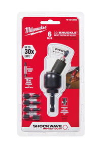 Milwaukee SHOCKWAVE IMPACT DUTY 30 Deg Knuckle Bit Holder Set (6-Pc) 48-32-2300