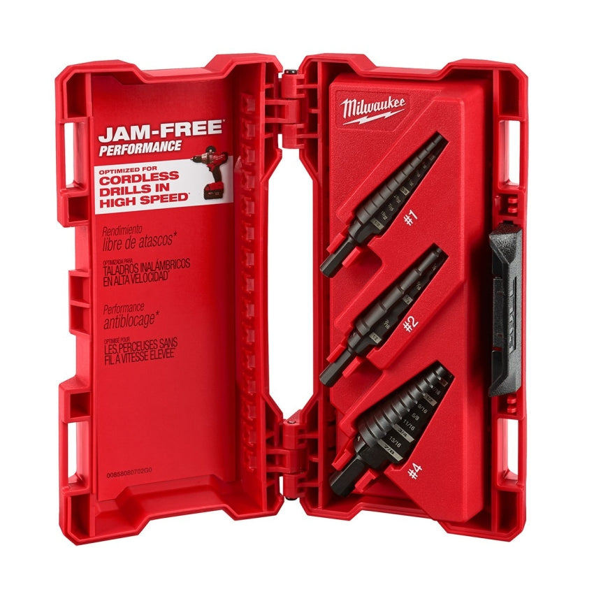 Milwaukee 48-89-9221 Black Oxide Step Drill Bit Set ( 3-Piece )