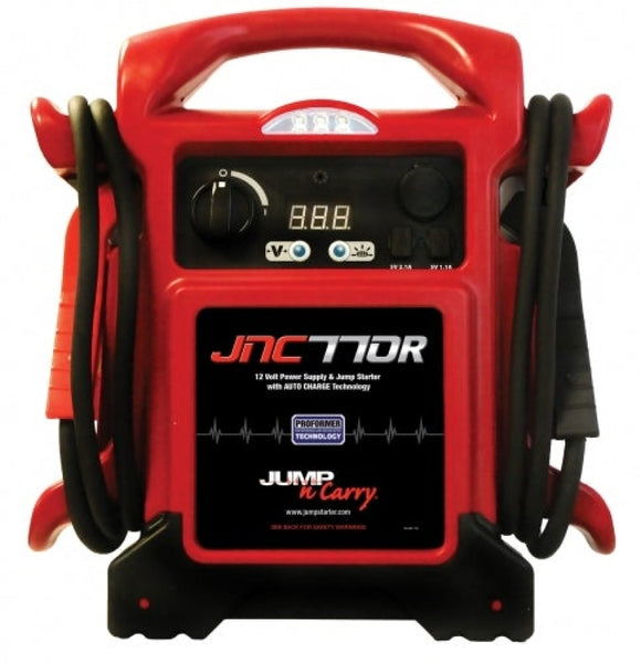 Clore Jump N Carry 1700 Peak Amp 12 V Jump Starter 425 Cranking Amps JNC 770 Red
