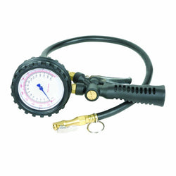 "Legacy Straight-On Chuck Inflator Gauge with Bleeder, Locking, 24"" Hose AL2025"