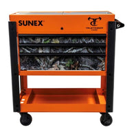 Sunex 8035XTKANATIOR Tools 3 Drawer Slide Top Utility Cart with Power Strip - Or