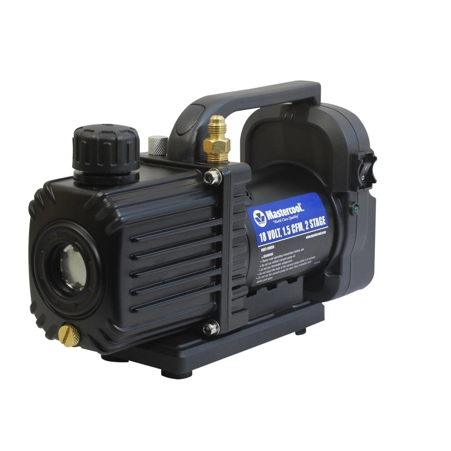 "Mastercool 90058-A-AUT 18V vacuum pump*, 1/4"" SAE port & 1/2"" ACME adapter (Tool-Only)"