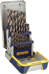 IRWIN HANSON 29 Pc Black & Gold Metal Index Drill Bit Set 3018005