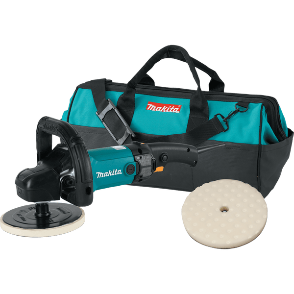 Makita 9237CX2 7 in. Polisher w/Loop Handle, Foam Pad and Contractor Bag