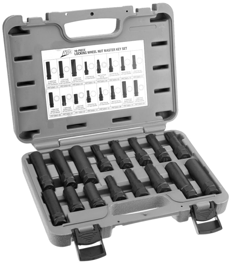 ATD Tools 16 Pc. Locking Wheel Nut Master Key Set 3065