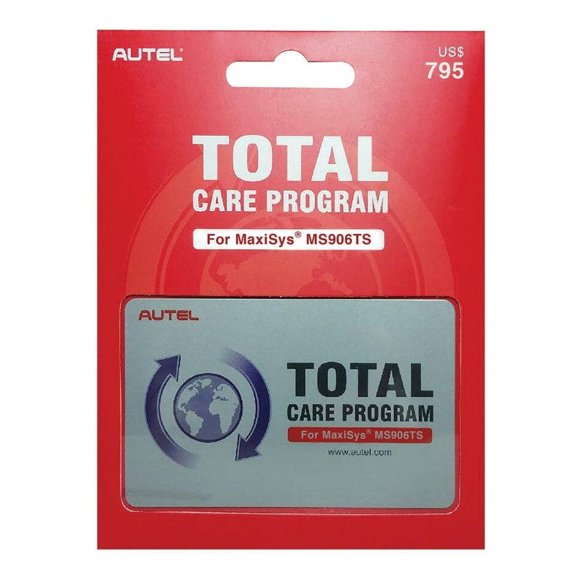 Autel 1 Year Update & Warranty Total Care Program Card for US Model MS906TS-1YR
