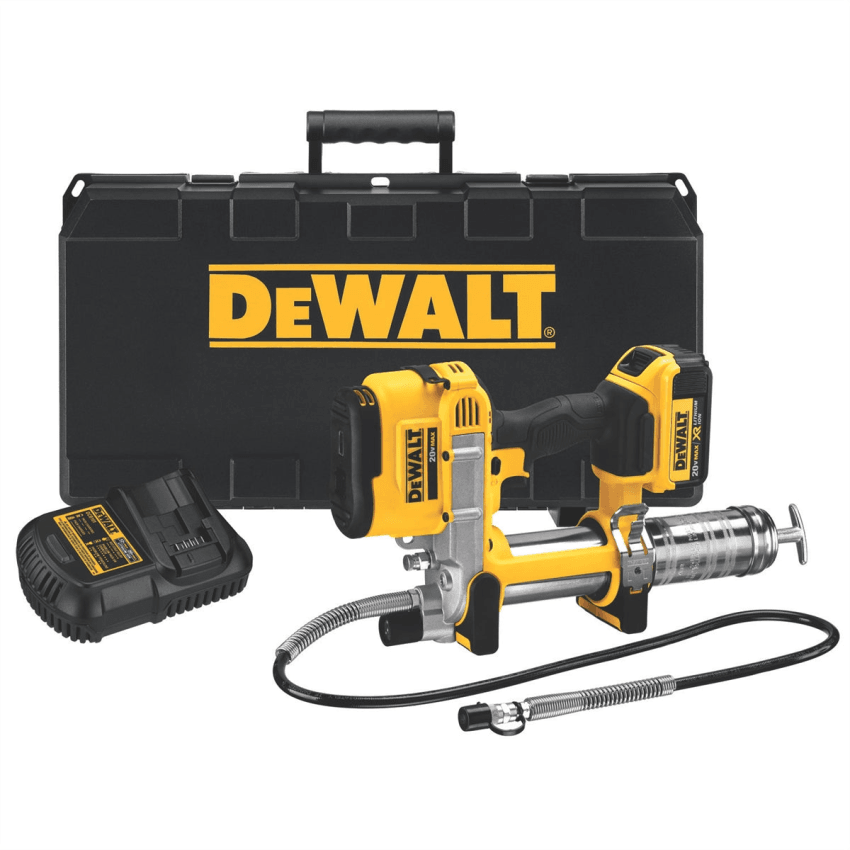 DeWalt 20 Volt MAX Lithium Ion Grease Gun 1 4.0 Battery & Charger Kit DCGG571M1