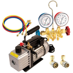 FJC Vacuum Pump And Brass Manifold Set 9281