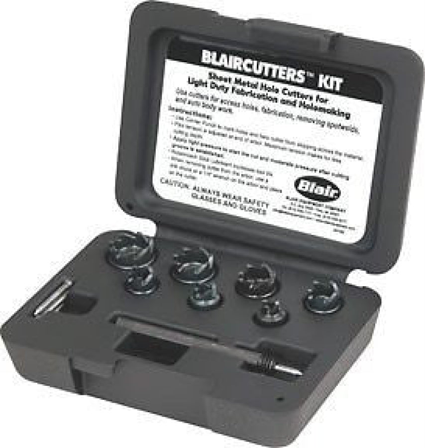 "Blair Blaircutter 7 Piece Kit Sheet Metal Drilling Up to 3/16"" Deep 13218"