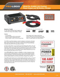 Clore PL6800 PRO-LOGIX 12 Volt 100A Flashing Power Supply & Fleet Battery Charge