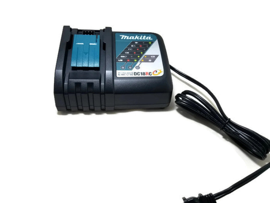Makita 7.2V - 18V Lithium-Ion Rapid Optimal Charger (Open) DC18RC