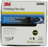 "3M 00908 Hookit 3"" P1200 Grade Finishing Film Disc"