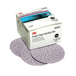 "3M 30260 Purple 3"" P800 Grit Clean Sanding Hookit Disc"