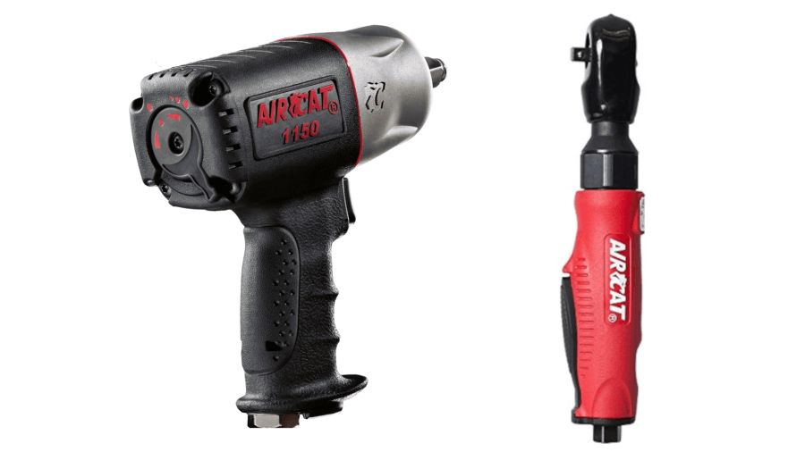"AirCat 1150 1/2"" 1295 ft/lbs Loosening Air Impact Wrench w/ Air Ratchet 800"
