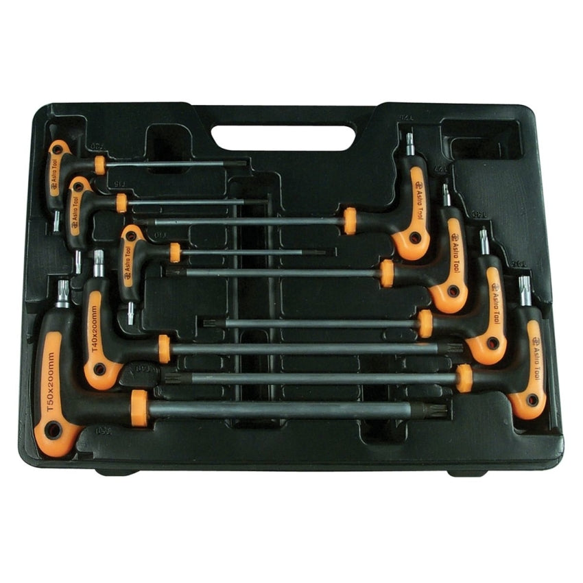 Astro Pneumatic 1023 9 Piece T-4 Handle Tamper Star & Star Key Wrench Set