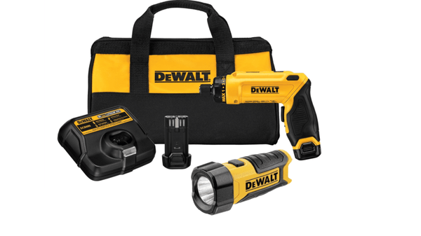 Dewalt DCF680N2 8V MAX Gyroscopic Screwdriver 2 Battery Kit & 8V Max Work Light