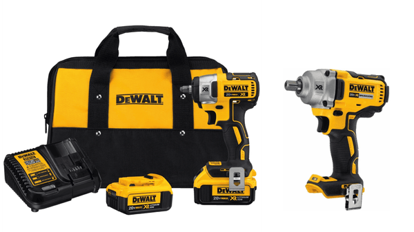 "Dewalt DCF890M2 3/8"" Compact Impact Wrench Kit & DCF894HB 1/2"" Impact Wrench"