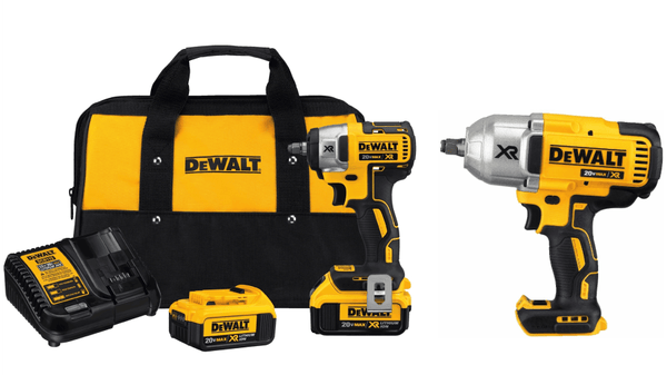 "Dewalt DCF890M2 3/8"" Compact Impact Wrench Kit & DCF899HB 1/2"" Impact Wrench"