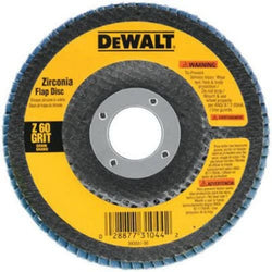 "DeWalt DW8308 Type 29 4.5"" x 7/8"" 60-Grit Zirconia HP Flap Disc"