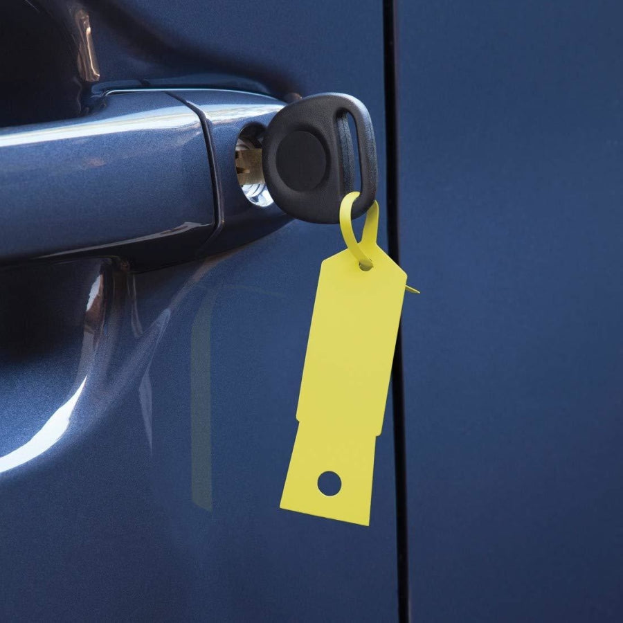 Slip N Grip FB-P9933-24 - Plastic Key Tags - Yellow - 1000 per pack