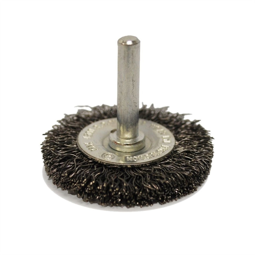 "Firepower 1423-2101 Circular Crimped Wire Wheel Brush, 2"" Diameter & 1/4"" Shank"
