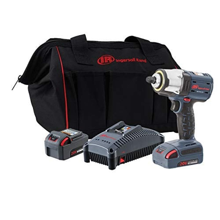 "Ingersoll Rand W5133-K22 3/8"" IQV20 Impact Wrench 2 Battery Kit"