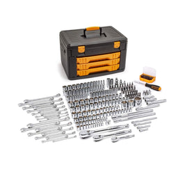 "Gearwrench 80966 243 Piece Tool Set with 6-Point Socket 1/4"", 3/8"", 1/2"" Drive"