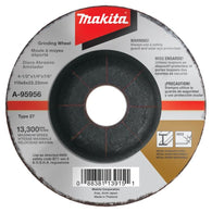 "Makita A95956 4‑1/2"" x 7/8"" x 1/4"" Type 27 36 Grit Metal Grinding Wheel"