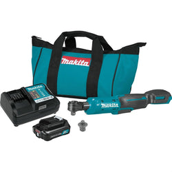 "Makita RW01R1 12V Max CXT Lithium‑Ion Cordless 3/8"" & 1/4"" Sq. Drive Ratchet Kit"