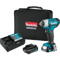 "Makita WT02R1 12V Max CXT Li‑Ion Cordless 3/8"" Sq. Dr Impact Wrench Kit (2.0Ah)"