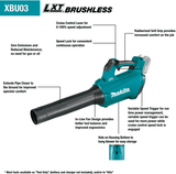 Makita XBU03Z Lithium-Ion Brushless Cordless 18V LXT Blower (Tool Only)